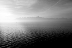 sailboat on empty water